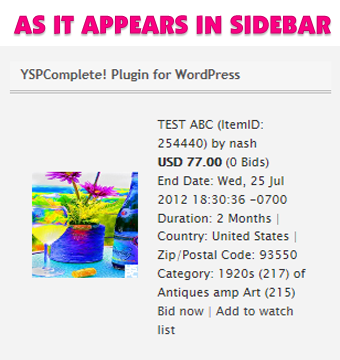 yspcomplete plugin for wordpress screenshot-1