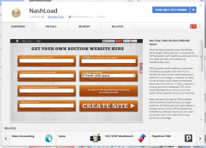 NashLoad App from Chrome Web Store