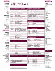 VBScript Cheat Sheet