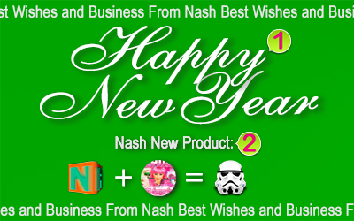 A Happy New Year 2016!!!! We love you more than ever before!!! For that, we have a great news of a new product from Nash! Ask us for details!!