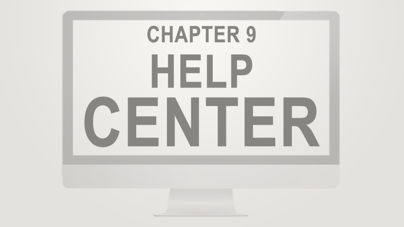 Chapter 9 - Help Center